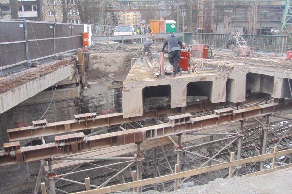 Sägearbeiten Brücke Wuppertal