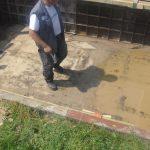 Sägearbeiten Öffnung Wasserspeicher